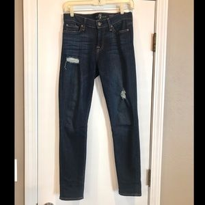 7 For All Mankind Jeans - 7 for all mankind gwenevere distressed skinny jean